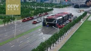 autobus sobre rieles