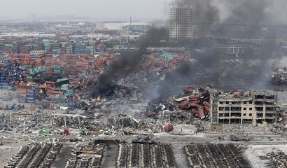 explosión en una planta química en China