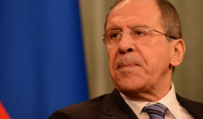 MOSCOW, RUSSIA - JANUARY 16: Russian Foreign Minister Sergey Lavrov holds a press conference following the meets at guest house of Russian foreign ministry building on January 16, 2014 in Moscow, Russia. (Photo by Sefa Karacan/Anadolu Agency/Getty Images)