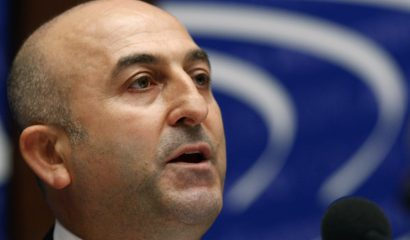 Turkey's Mevlut Cavusoglu, newly elected President of the Parliamentary Assembly of the Council of Europe, addresses the Assembly after his election in Strasbourg, January 25, 2010. REUTERS/Vincent Kessler (FRANCE - Tags: POLITICS) - RTR29FLT