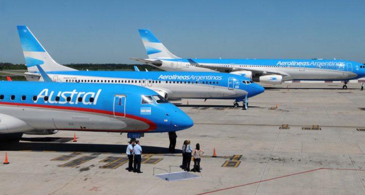 aviones de aerolineas y austral