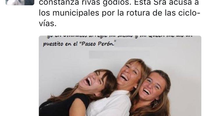 En esta imagen involucró a Constanza Rivas Godio y sus hijas