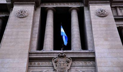 Frente del Palacio de Tribunales