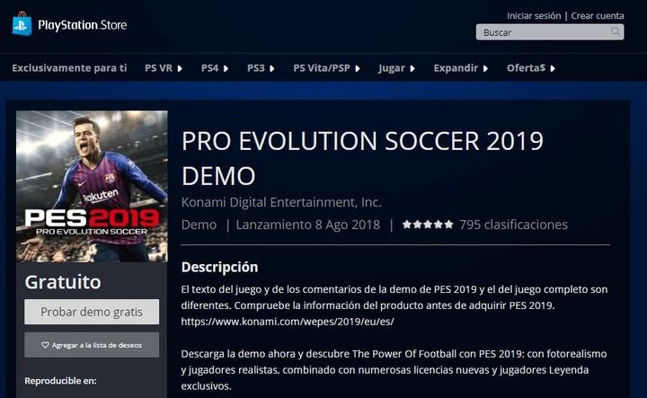 Lanzaron El Demo De Pes 2019 Como Descargarlo En Playstation 4